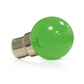 Ampoule LED B22 Couleur Bulb 1W Vert