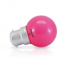 Ampoule LED B22 Couleur Bulb 1W Rose