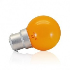 Ampoule LED B22 Couleur Bulb 1W Orange