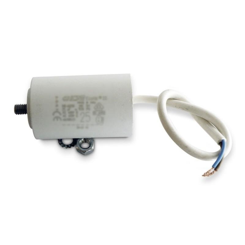 Condensateur permanent moteur a cable 450vac 2 5 f icar for Condensateur moteur piscine