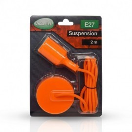 DOUILLE E27 SILICON + CABLE 2 M ORANGE