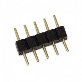 Connecteur Jonction Mâle/Mâle RGB+WHITE pour bandeaux LED