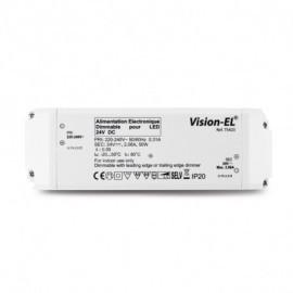 Alimentation pour LED 24VDC 50W Dimmable Coupure de phase