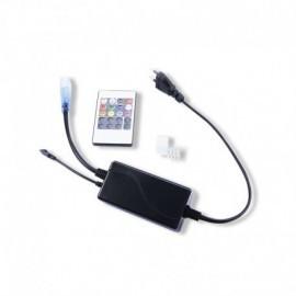 ALIM RGB + CONTROL + TEL + EMB FIN + CONNECT MALE/MALE NEON FLEX 22X11
