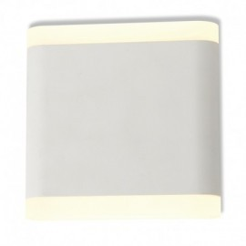 APPLIQUE MURALE LED 6 W 115 mm CARRE 4000°K BLANC IP54