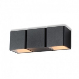 APPLIQUE MURALE LED 2X3 W 4000°K GRIS ANTHRACITE IP54
