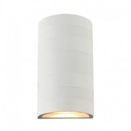 Applique Murale LED 2x5W Cylindrique 4000°K Blanc IP54