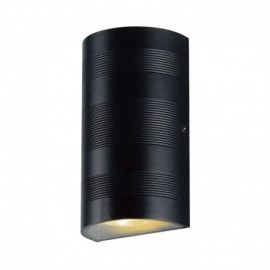 Applique Murale LED 2x5W Cylindrique 3000°K Gris IP54