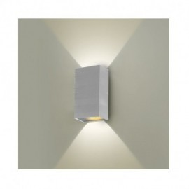 Applique Murale LED 2x5W Rectangulaire 3000°K Blanc IP54
