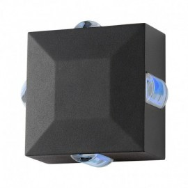 Applique Murale Carré LED 6W Diffuseur Bleu Gris IP54
