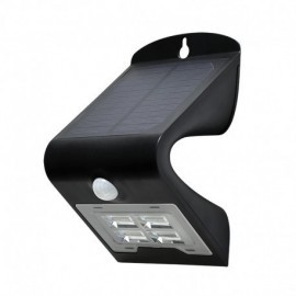 Applique Murale LED Solaire 2W 4000°K Noir + Détecteur