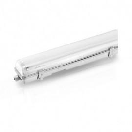Boitier Etanche LED sans ballast pour 2 Tubes T8 de 1500 mm 58w max