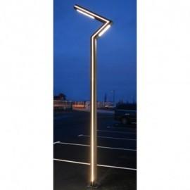 Lampadaire Eclairage Public Voie Piéton LED 50W 4000°K 3m  Gris Anthracite