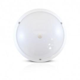 LED Hublot + Détecteur IR Ø300 18W 1450LM 4500°K IP65 Blanc
