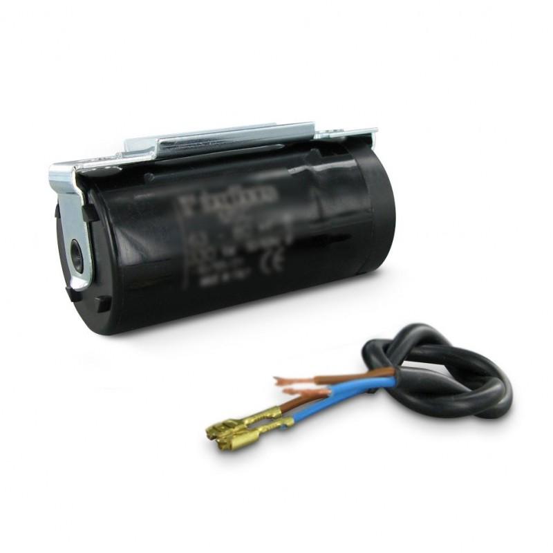 condensateur de demarrage moteur a cosse noir 330v 46x85mm 200 2. Black Bedroom Furniture Sets. Home Design Ideas
