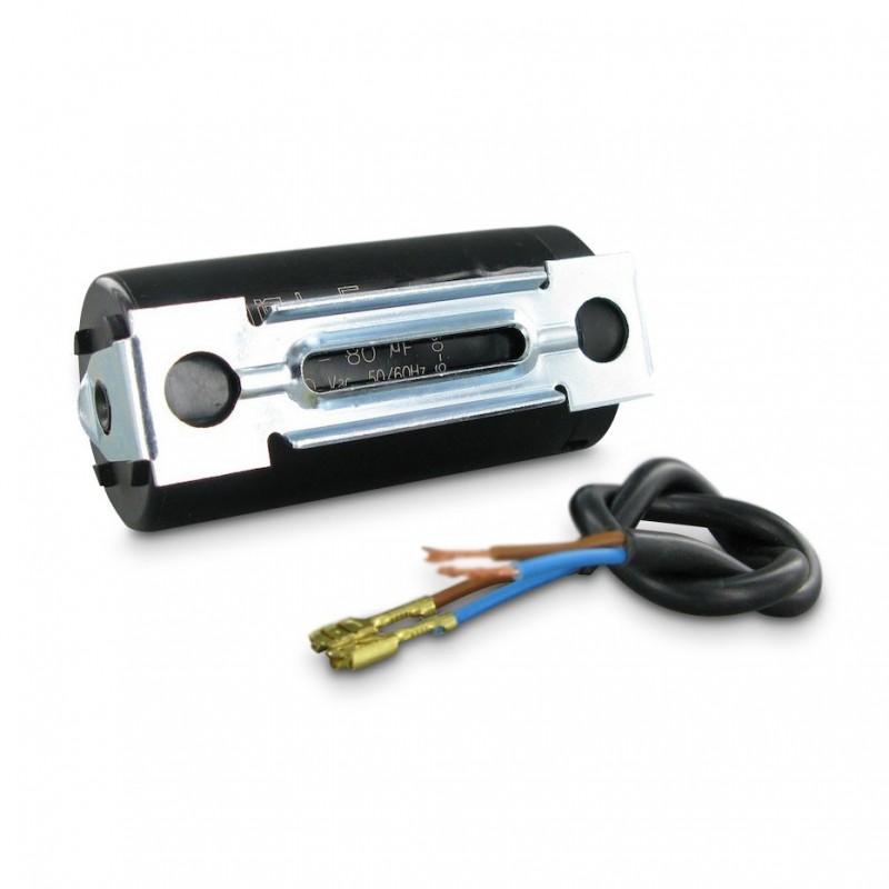 condensateur de demarrage moteur a cosse noir 330v 45x85mm 250 f. Black Bedroom Furniture Sets. Home Design Ideas