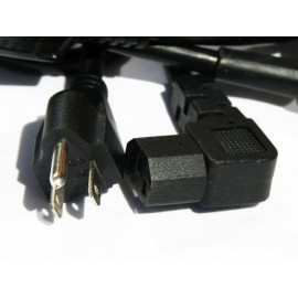 Cordon d'alimentation secteur Fiche US et connecteur - IEC13 Coudée - schuko - noir - 2m
