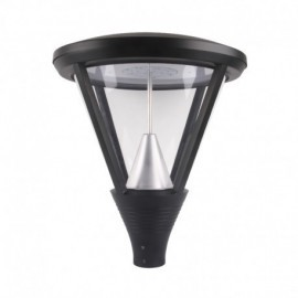 Lanterne sur mat LED YS5 Gris Anthracite 60W IP65 IK10 3000°K