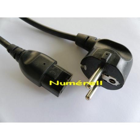 Cordon d'alimentation secteur - IEC13 - schuko - noir - 3m