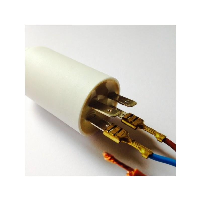 Condensateur permanent moteur a cosse 450vac 10 f icar for Condensateur moteur piscine