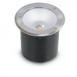 Spot LED Encastrable Sol Rond Inox 3W 230V 4500°K IP65