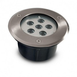 Spot LED Encastrable Sol Rond Inox Ø150MM 6W 230V 4500°K IP67