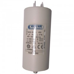 Condensateur permanent à cosse 40 µF COMAR