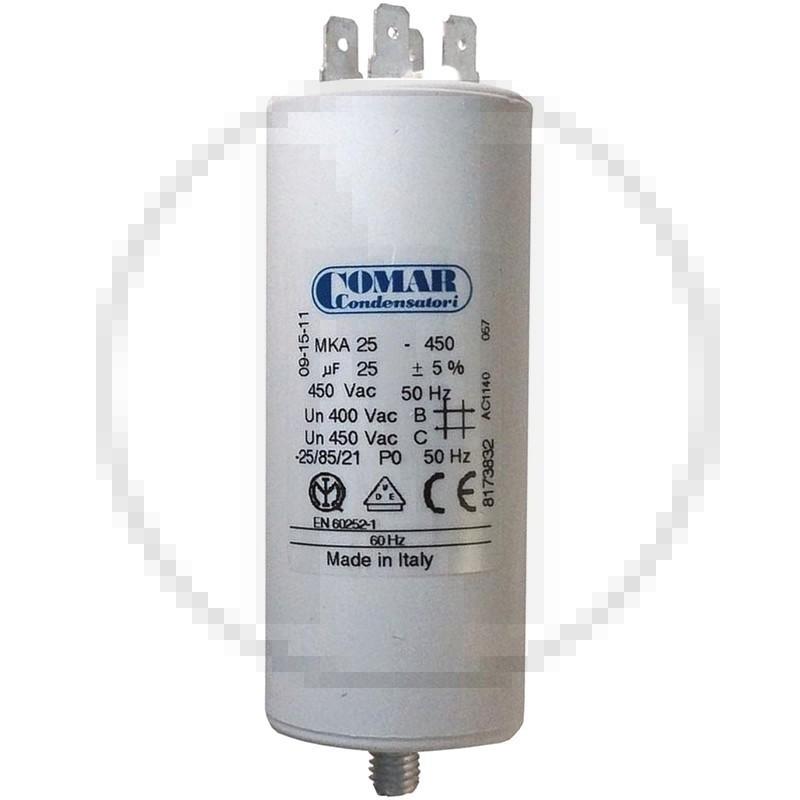 Condensateur permanent à cosse 25 µF COMAR