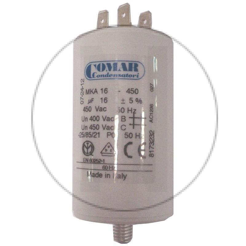 Condensateur permanent à cosse 16 µF COMAR