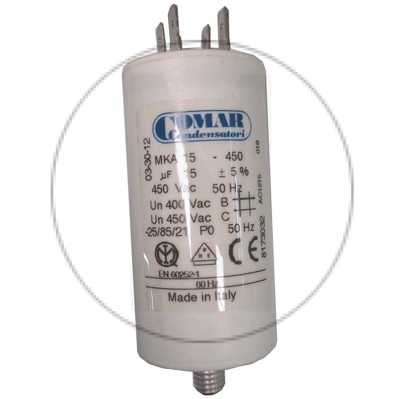 Condensateur permanent à cosse 15 µF COMAR