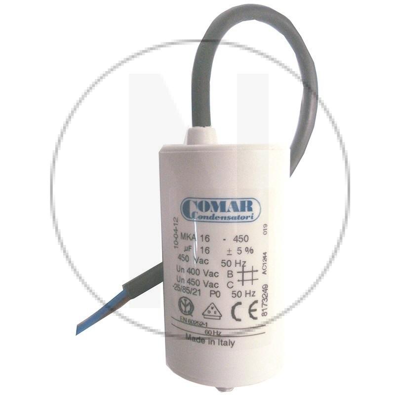 Condensateur permanent à câble 16 µF COMAR