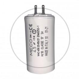 Condensateur moteur 4.5 µF - 2 cosses 2.8mm