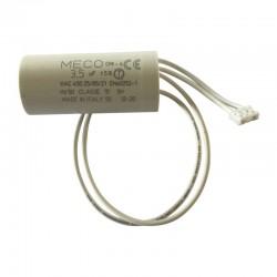 Condensateur 3.5 µF avec connecteur pour volet roulant Bubendorff