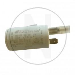 Condensateur pour volet roulant 2.5 µF avec adapteur pour cosses Faston de 2.8mm
