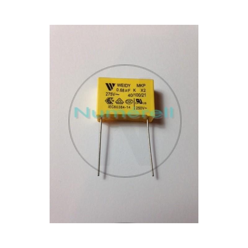 Condensateur X2  0.68µF (MF) 275 VAC