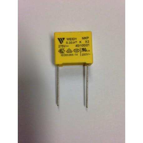 Condensateur X2 0.33µF 275VAC