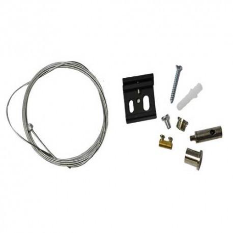 Connecteur triphasé kit suspension 2M blanc