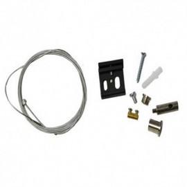 Connecteur triphasé kit suspension 2M noir
