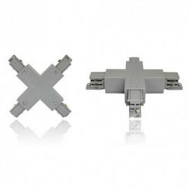 Connecteur triphasé croix X  argent  230V