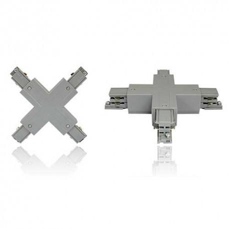 Connecteur triphasé croix X rail 230V