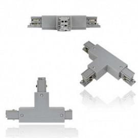 Connecteur triphasé forme T blanc  gauche circuit intérieur 230V