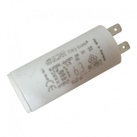 Condensateur permanent moteur à cosse 6.3 µF - 450 VAC - Icar Ecofil WB4063