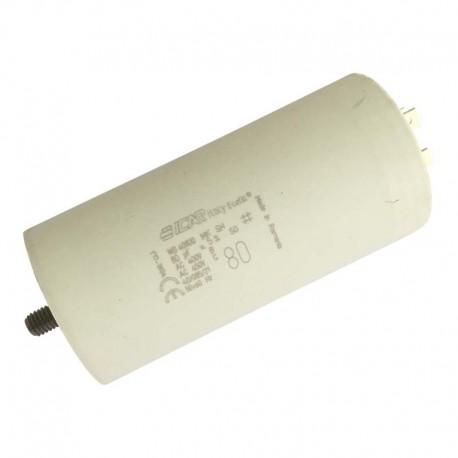 Condensateur permanent moteur à cosse 80 µF - 450 VAC - Icar Ecofil WB40800