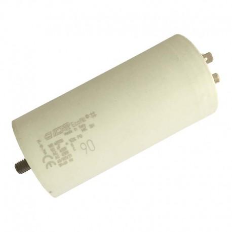 Condensateur permanent moteur à cosse 90 µF - 450 VAC Icar Ecofil WB40900