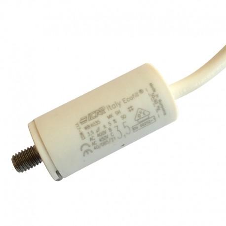 Condensateur 3.5 µF à cable pour volet roulant Bubendorff