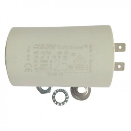 Condensateur permanent moteur à cosse 25 µF