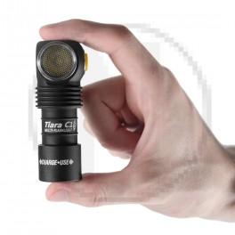 Lampe de poche frontal avec batterie rechargeable Armytek Tiara C1 Aimant USB +Batterie 18350