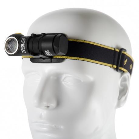 Lampe de poche frontal avec batterie rechargeable Armytek Tiara C1 Pro Aimant USB + Batterie 18350