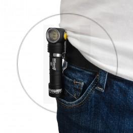 Lampe de poche frontal avec batterie rechargeable Armytek Wizard Aimant USB + Batterie 18650