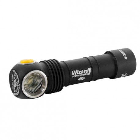 Lampe de poche frontal avec batterie rechargeable Armytek Wizard Pro Aimant USB + Batterie 18650